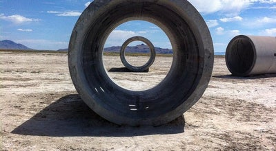 Photo of Sculpture Garden Sun Tunnels at Little Pigeon Road, Lucin, UT, United States