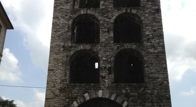 Photo of Historic Site Porta Torre at Piazza Vittoria, Como, Italy