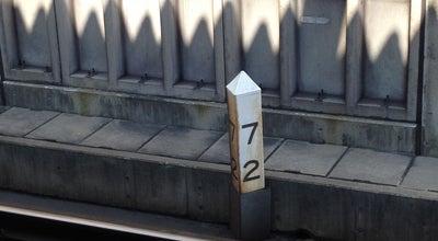Photo of Monument / Landmark JR千早駅 72kmポスト at 東区千早4-93-1, 福岡市 813-0044, Japan