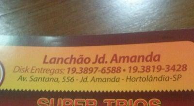 Photo of Burger Joint Lanchão & Cia at Av. Santana, 556, Hortolândia, Brazil