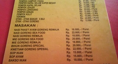 Photo of Sushi Restaurant RM. Remaja (Pempek House) at Jl. Agus Salim, Kota Selatan, Indonesia