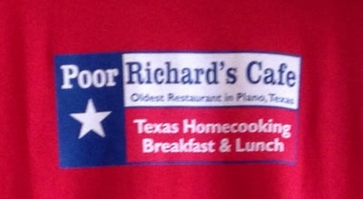 Photo of American Restaurant Poor Richard's Cafe at 2442 K Ave, Plano, TX 75074, United States