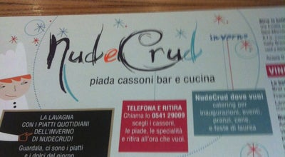 Photo of Italian Restaurant Nud e Crud at Viale Tiberio, 27/29, Rimini 47921, Italy