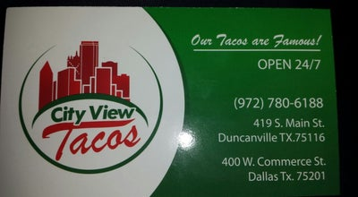 Photo of Mexican Restaurant City View Tacos at 419 S Main St, Duncanville, TX 75116, United States