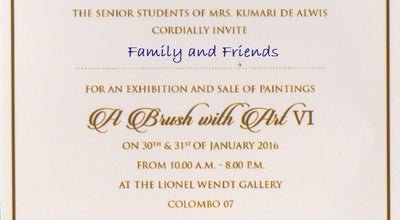 Photo of Art Gallery Lionel Wendt Art Gallery at Guilford Crescent, Colombo 00700, Sri Lanka