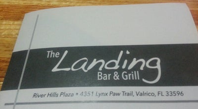 Photo of American Restaurant The Landing Bar & Grill at 4351 Lynx Paw Trl, Valrico, FL 33596, United States
