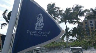 Photo of Beach Ritz Carlton Key Biscayne white sand beach at 455 Grand Bay Dr, Key Biscayne, FL 33149, United States