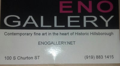 Photo of Art Gallery Eno Gallery at 100 S Churton St, Hillsborough, NC 27278, United States