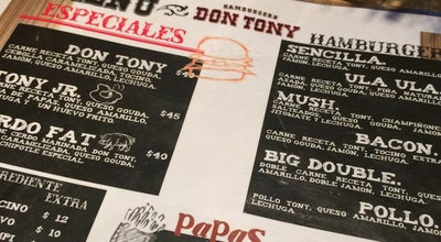 "Photo of Burger Joint Hamburguesas ""Don Tony"" at Mexico"