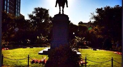 Photo of Sculpture Garden George Washington Equestrian Statue at Boston Public Garden, Boston, MA 02116, United States