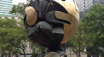 Photo of Outdoor Sculpture The Sphere at Battery Park, New York, NY 10004, United States