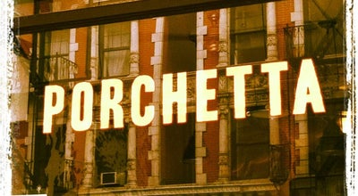 Photo of Italian Restaurant Porchetta at 110 E 7th St, New York, NY 10009, United States