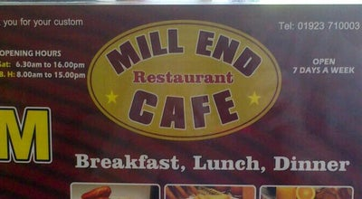 Photo of Cafe Mill End Cafe at 159a Uxbridge Rd, Rickmansworth WD3 7DW, United Kingdom
