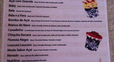Photo of Dessert Shop Sabor Do Açaí at R. Frei Raimundo Lambezart, Marabá, Brazil