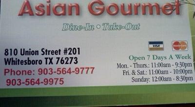 Photo of Chinese Restaurant Asian Gourmet at 810 N Union St, Whitesboro, TX 76273, United States