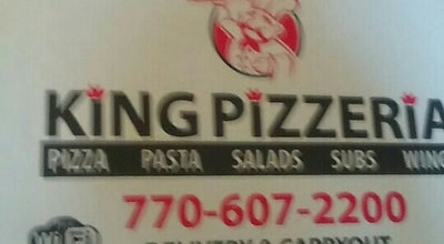 Photo of Pizza Place King Pizzeria at 923 Joe Frank Harris Pkwy Se, Cartersville, GA 30120, United States