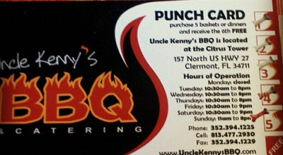 Photo of BBQ Joint Uncle Kenny's BBQ at 157 N Highway 27, Clermont, FL 34711, United States