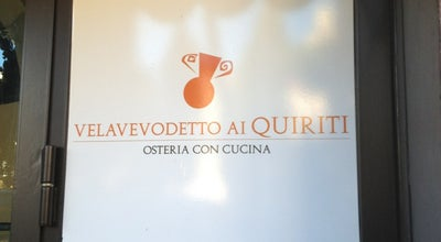 Photo of Italian Restaurant Velavevodetto ai Quiriti at Piazza Dei Quiriti, 5, Roma 00192, Italy