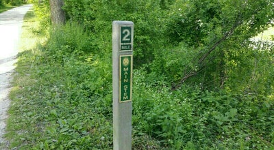 Photo of Trail Illinois Prarie Path - Mile Marker 2 at Glen Ellyn, IL 60137, United States