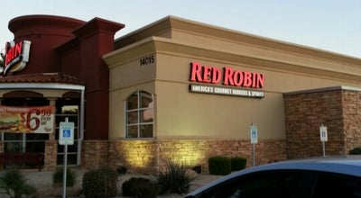 Photo of Burger Joint Red Robin Gourmet Burgers at 14015 W Bell Rd, Surprise, AZ 85374, United States