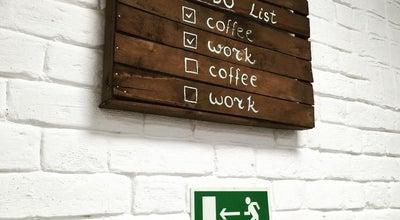 "Photo of Coffee Shop Кофейня-коворкинг ""Диван"" at Марджани, 18, Казань 420111, Russia"