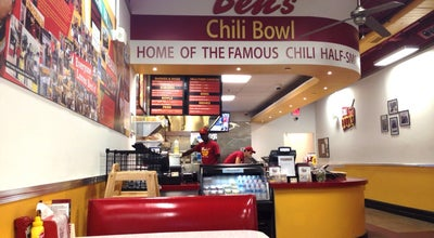 Photo of Hot Dog Joint Ben's Chili Bowl at 1725 Wilson Blvd, Arlington, VA 22209, United States