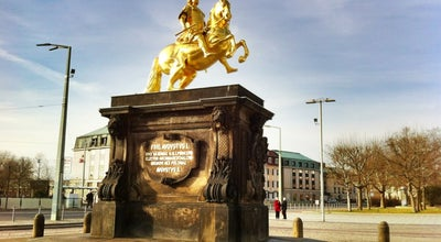 Photo of Monument / Landmark Goldener Reiter at Hauptstr., Dresden 01097, Germany
