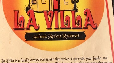 Photo of Mexican Restaurant La Villa Authentic Mexican Restaurant at 1720 N West Ave, El Dorado, AR 71730, United States