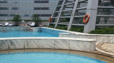 Photo of Pool Swimming Pool JW Marriott at 7f, 399 West Nanjing Rd | 南京西路399号7楼, Shanghai | 上海市, Sh 200003, China
