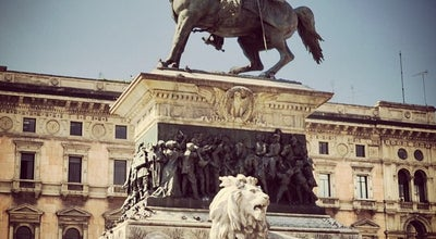 Photo of Monument / Landmark Monumento a Vittorio Emanuele II at Piazza Del Duomo, Milan 20121, Italy