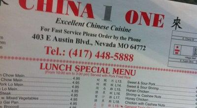 Photo of Chinese Restaurant China One at 403 E Austin Blvd, Nevada, MO 64772, United States