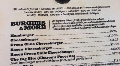 Photo of Burger Joint Santa Fe Bite at 311 Old Santa Fe Trl, Santa Fe, NM 87501, United States