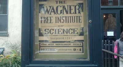 Photo of Science Museum Wagner Free Institute of Science at 1700 W Montgomery Ave, Philadelphia, PA 19121, United States