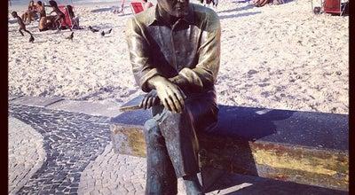 Photo of Monument / Landmark Estátua de Carlos Drummond de Andrade at Av. Atlântica, 4110, Rio de Janeiro, Brazil