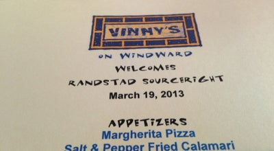 Photo of Italian Restaurant Vinny's at 5355 Windward Pkwy, Alpharetta, GA 30004, United States