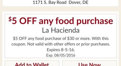 Photo of Mexican Restaurant La Hacienda at 1171 S Bay Rd, Dover, DE 19901, United States