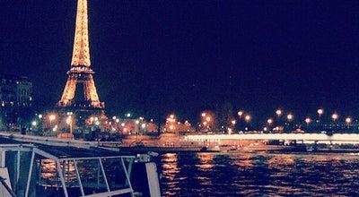 Photo of Boat or Ferry Bateaux Mouches at Pont De L'alma, Paris 75008, France
