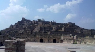 Photo of Historic Site Golconda Fort at Darbar Hall, Hyderabad, India
