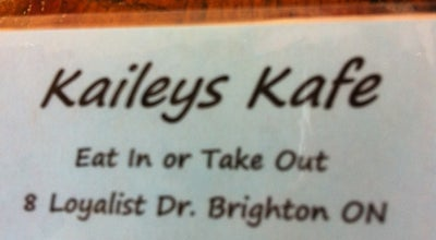 Photo of Diner Kaileys Cafe at Brighton, On, Canada