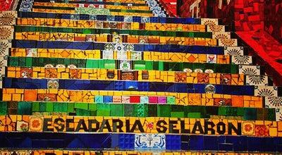 Photo of Historic Site Escadaria de Selarón at R. Manuel Carneiro, Rio de Janeiro, Brazil
