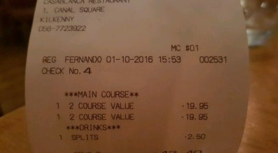 Photo of Mexican Restaurant Casablanca at 1-2 Canal Sq, Kilkenny, Ireland