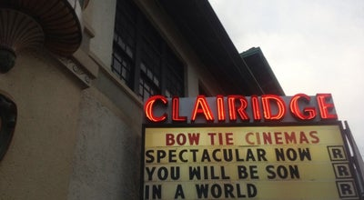 Photo of Indie Movie Theater Bow Tie Clairidge Cinema at 486 Bloomfield Ave, Montclair, NJ 07042, United States