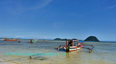 Photo of Beach Pantai Pasir Putih at Jalan Trans Sumatera Bakaheuni - Lampung, Merbau Mataram, Indonesia