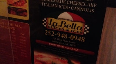 Photo of Italian Restaurant La Bella Slices and Ices at 126 W Main St, Washington, NC 27889, United States