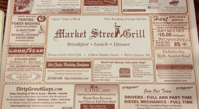 Photo of Diner Market Street Grill at 6 W Market St, West Chester, PA 19382, United States