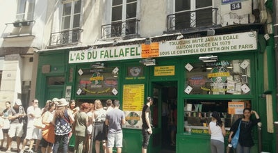 Photo of Falafel Restaurant L'As du Fallafel at 34 Rue Des Rosiers, Paris 75004, France