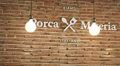Photo of Italian Restaurant Porca Miseria at Calle Toledo 171, Madrid 28005, Spain