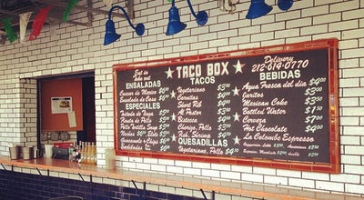 Photo of Taco Place Bowery Taco Box at 358 Bowery, New York, NY 10003, United States