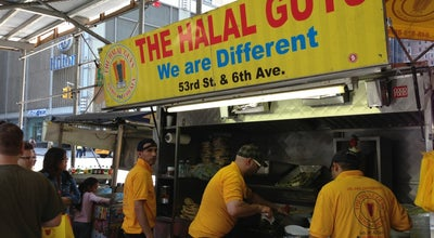 Photo of Middle Eastern Restaurant Halal Guys on 53rd & 6th at 53rd And 6th, New York, NY 10103, United States