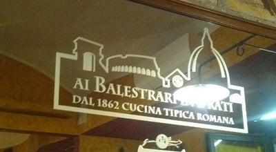Photo of Italian Restaurant Ai Balestrari In Prati at Piazza Dell'unità, 27, Roma, Italy